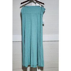 LuLaRoe | 2XL Maxi Skirt Cotton Blue NEW